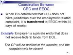 coordination between crc and eeoc