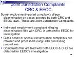 joint jurisdiction complaints crc eeoc