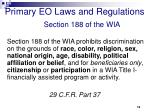 primary eo laws and regulations