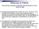 referrals to fmcs