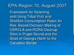 epa region 10 august 2007