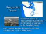 geographic scope