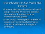 methodologies for key pacific nw surveys