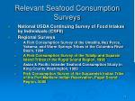 relevant seafood consumption surveys