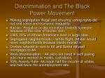 discrimination and the black power movement