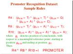 promoter recognition dataset sample rules