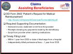 claims assisting beneficiaries