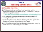 claims assisting beneficiaries6