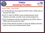 claims assisting providers21