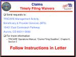 claims timely filing waivers13