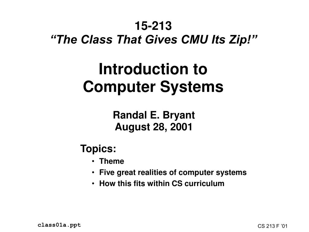 introduction to computer systems l.