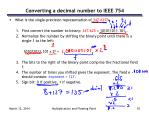 converting a decimal number to ieee 754