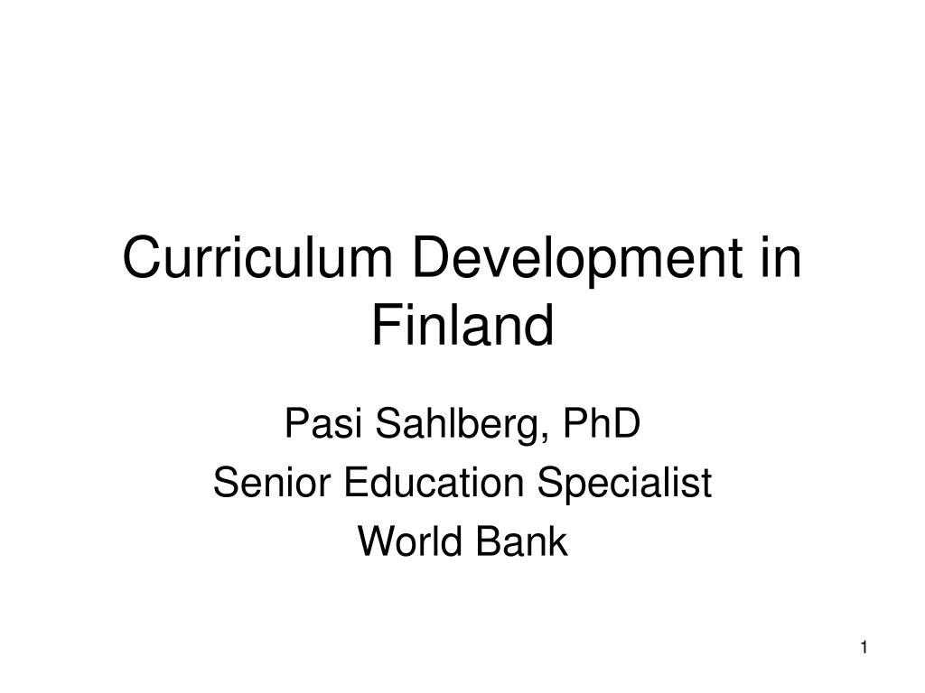 curriculum development in finland l.