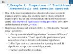 c example 2 comparison of traditional frequentistic and bayesian approach