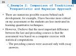 c example 2 comparison of traditional frequentistic and bayesian approach35