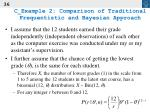 c example 2 comparison of traditional frequentistic and bayesian approach36