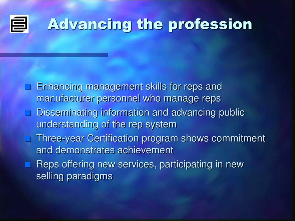 Advancing the profession