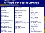 introduction hpc user forum steering committee