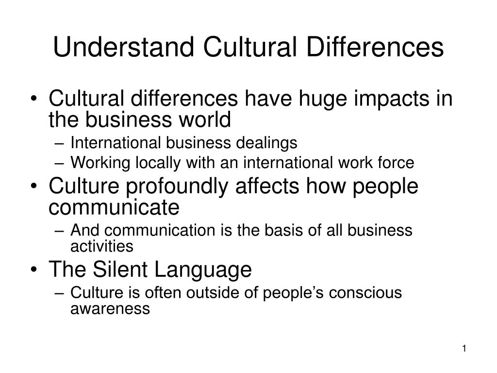 understand cultural differences l.
