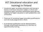 vet vocational education and training in finland