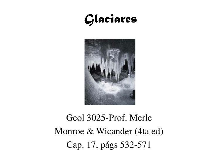 glaciares n.