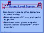 sound level survey