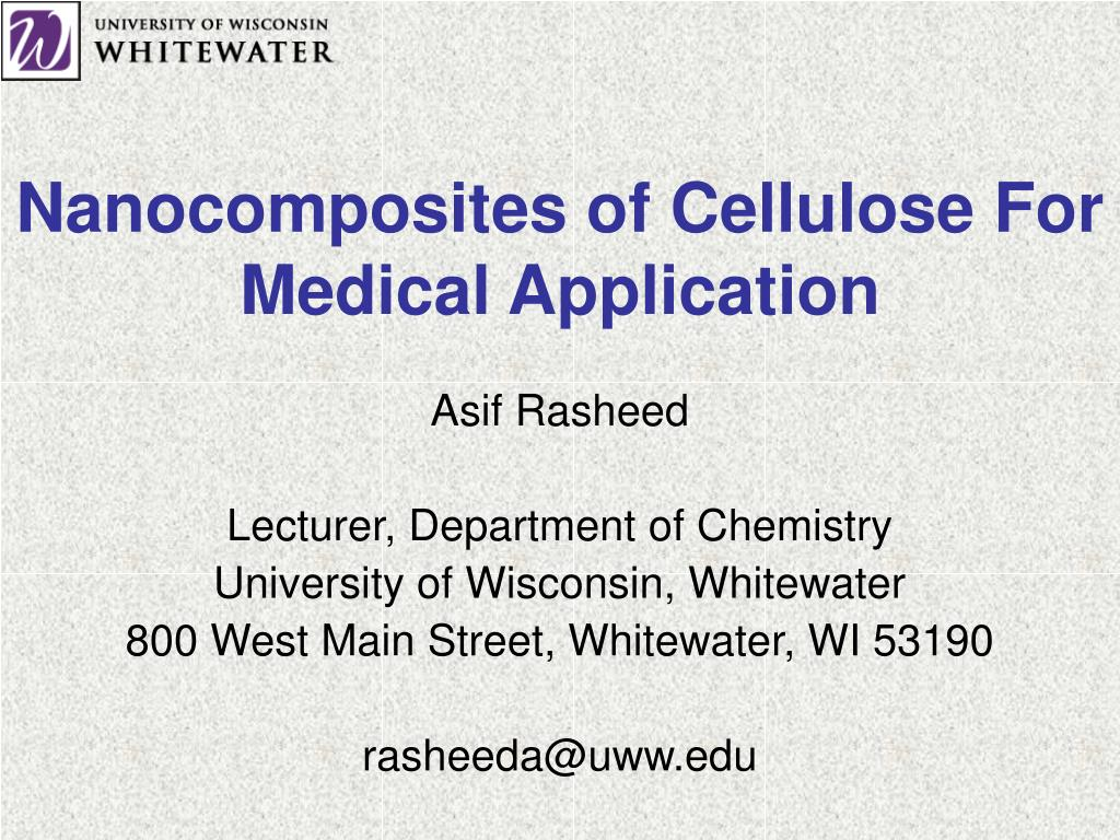nanocomposites of cellulose for medical application l.
