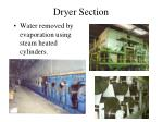 dryer section