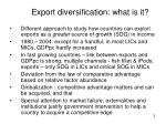 export diversification what is it