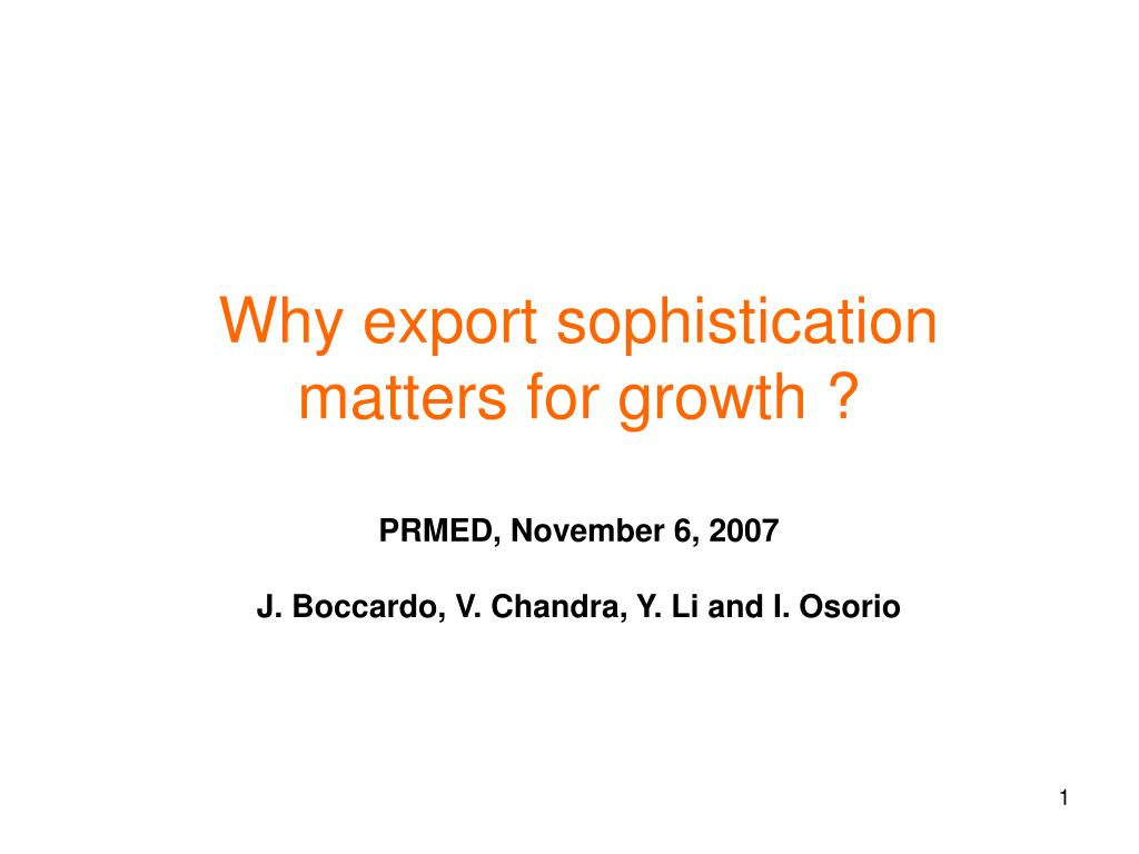why export sophistication matters for growth l.