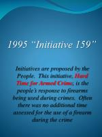 1995 initiative 159