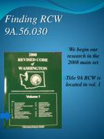 finding rcw 9a 56 030