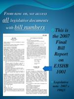 from now on we access all legislative documents with bill numbers