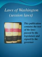 laws of washington session laws