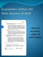 legislature defines the three degrees of theft