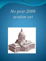 no post 2008 session yet