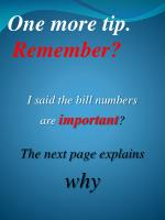 one more tip remember
