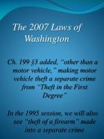 the 2007 laws of washington