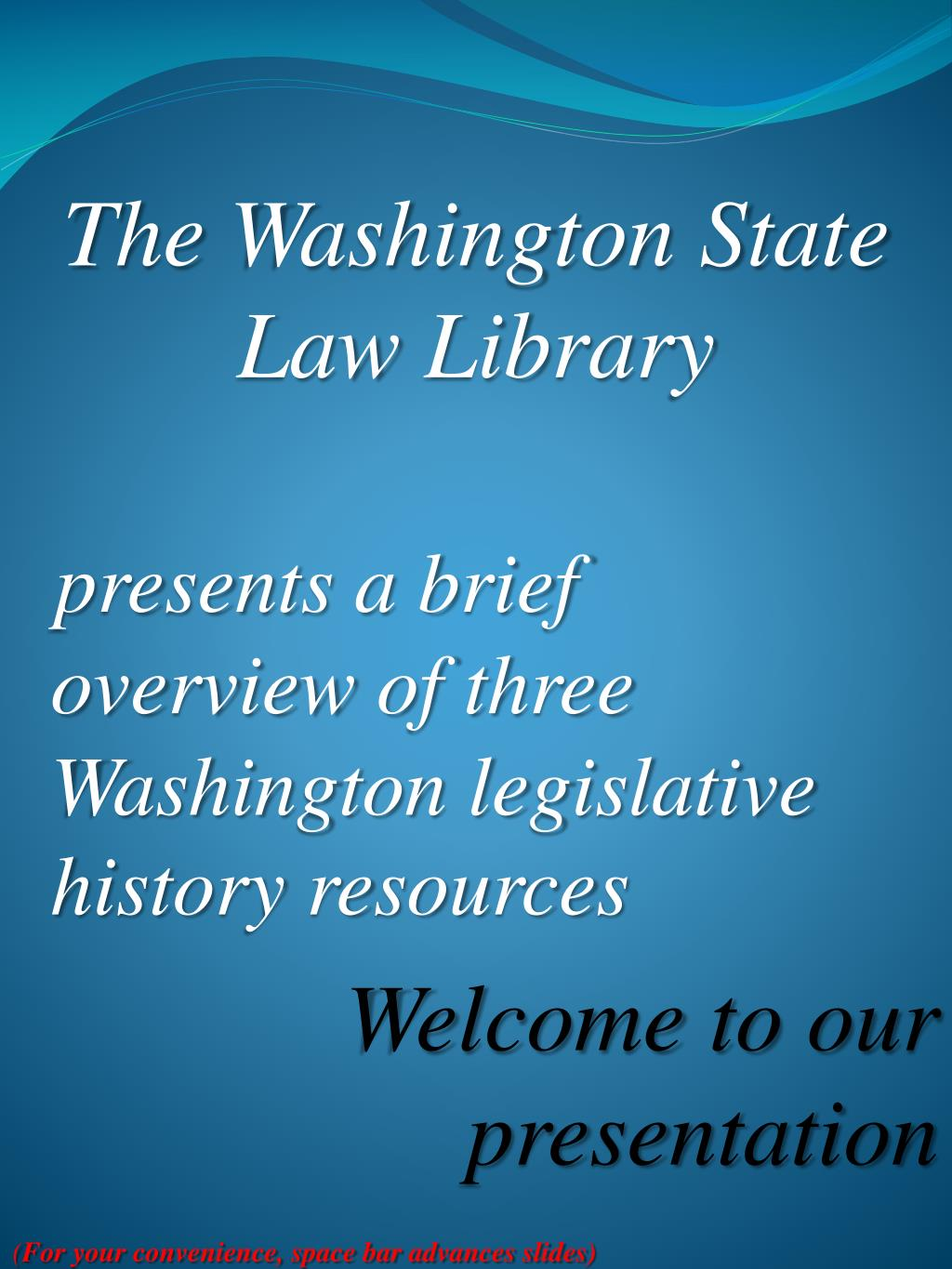 the washington state law library l.