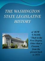 the washington state legislative history