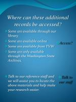 where can these additional records be accessed