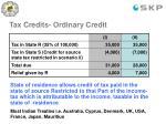 tax credits ordinary credit