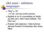 l nt poesi ekthetens resignasjon
