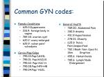 common gyn codes49