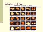 retail cuts of beef