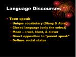language discourses