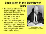 legislation in the eisenhower years