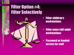 filter option 4 filter selectively