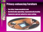 privacy enhancing furniture