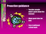 proactive guidance